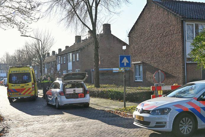 Hulpdiensten aan de Otterring in Breda.