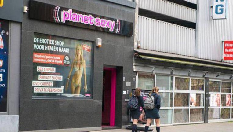 Seksbioscoop Planet Sexy in de Breydelstraat.