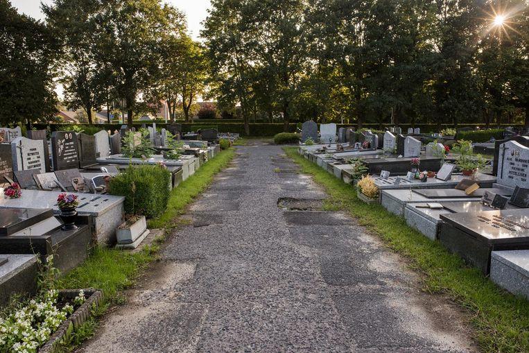 De begraafplaats 'Ter ruste'.