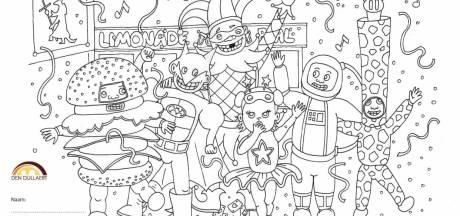 Den Dullaert houdt kleurwedstrijd in carnavalsweekend met plaat van limonadebal