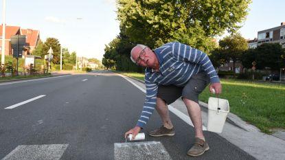 Inwoner herschildert zebrapad Woluwelaan… dat donderdag opnieuw verdwijnt