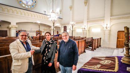 """Schepen Hina Bhatti (Open Vld) bezoekt Joodse synagoge, die restauratie ondergaat: """"In dialoog treden met alle geloofsgemeenschappen"""""""