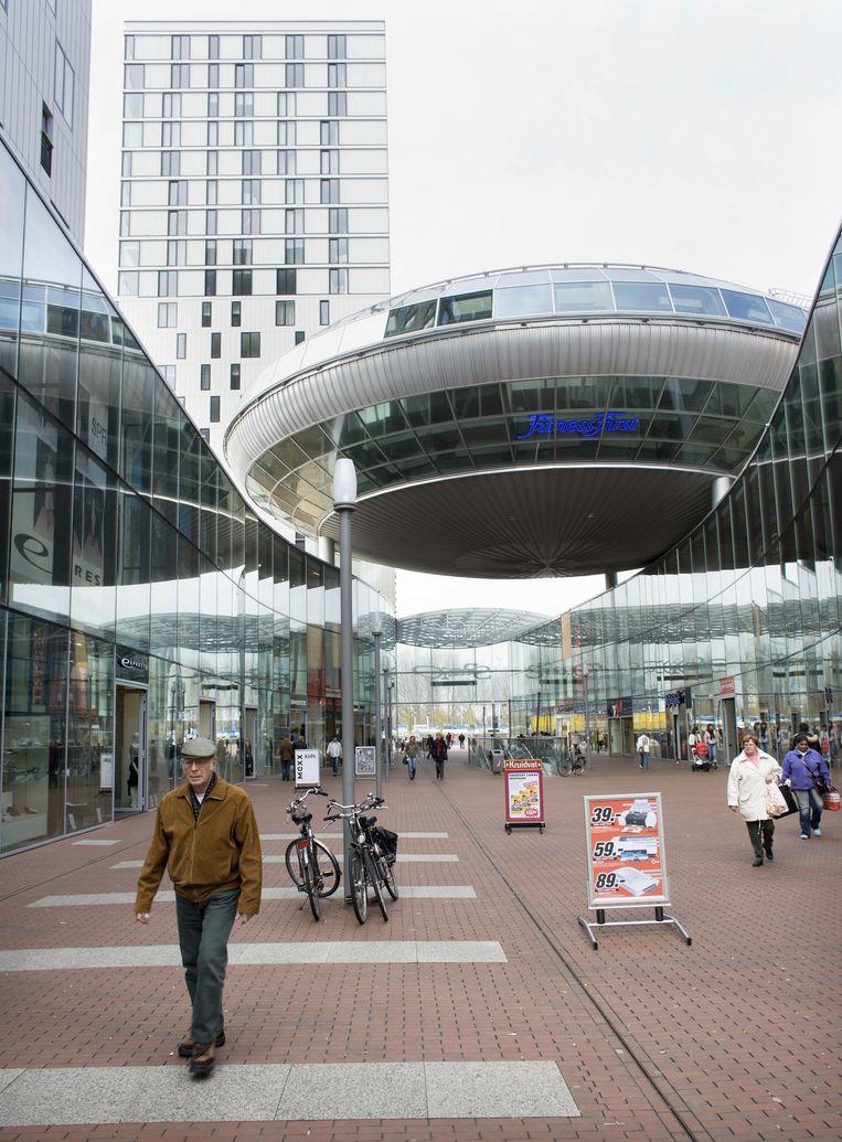 De 'ufo' in Zoetermeer. Een gebouw van Frits van Dongen. Beeld Martijn Beekman