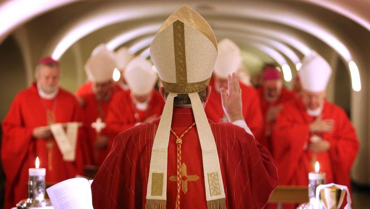 De Nederlandse bisschoppen, afgelopen december tijdens hun bezoek aan het Vaticaan. Beeld anp