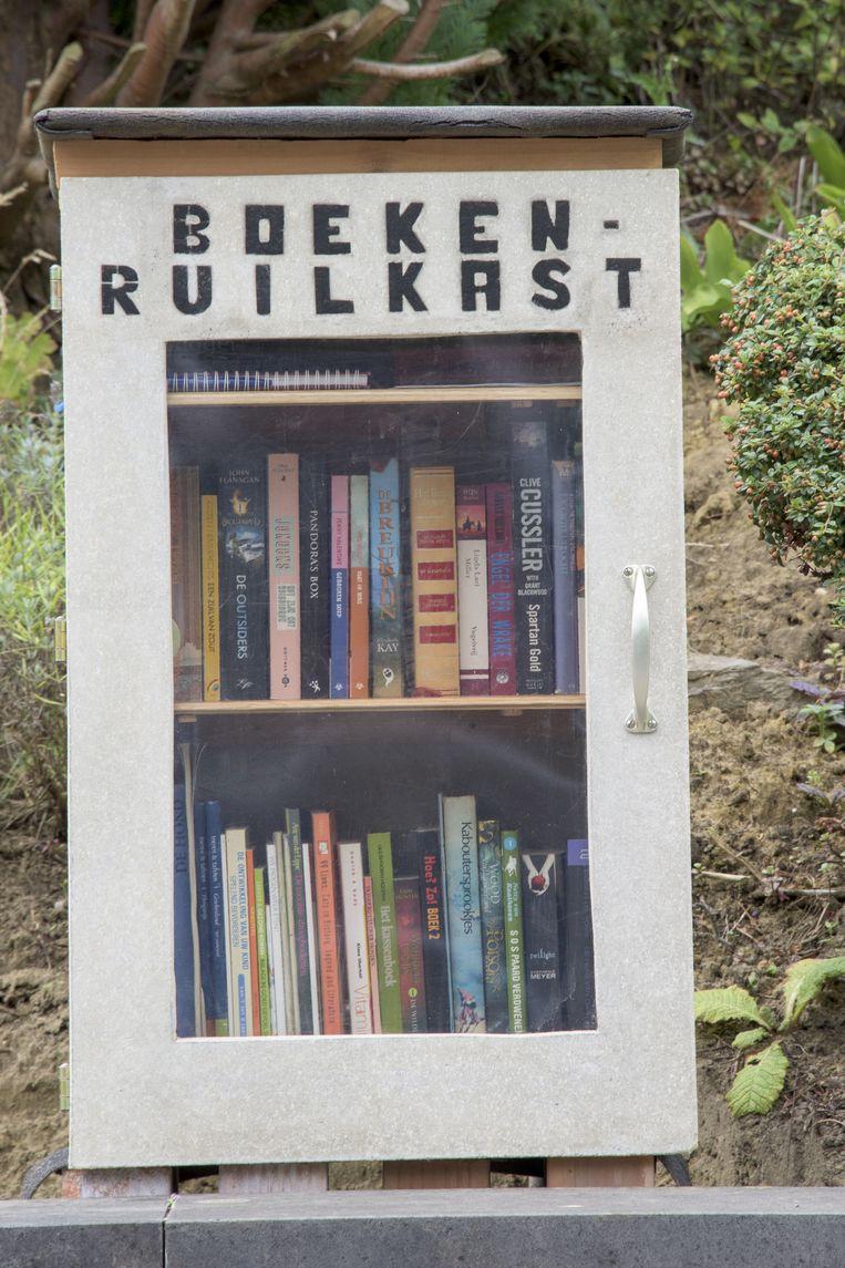 Een boekenruilkast.