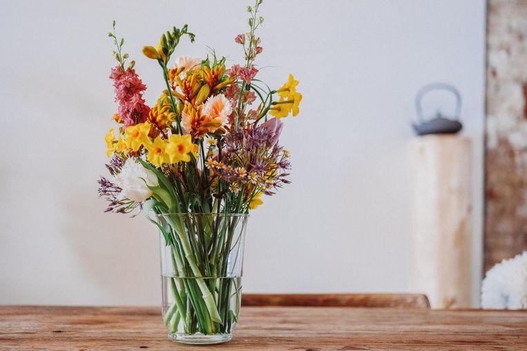 Handige tip: trek mét vaas naar de florist voor een boeket op maat.