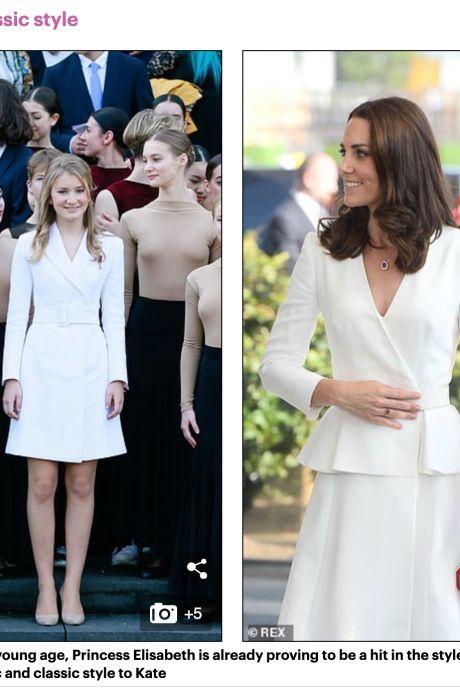 """La presse britannique compare la princesse Elisabeth à Kate Middleton: """"Beaucoup de choses en commun"""""""