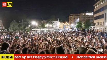 Als cafés sluiten, feesten ze in Brussel verder op straat
