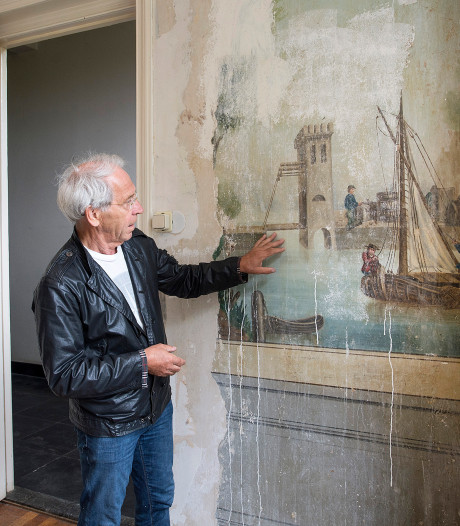 Koddige fresco ontdekt in de oude pastorie van Moergestel: wie weet er meer van?