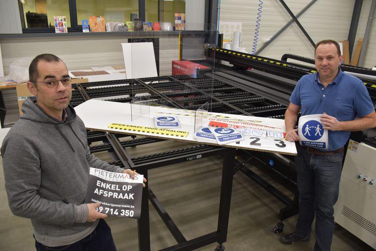 Preventiedrukwerk en schermen in plexiglas bij Pietermans.