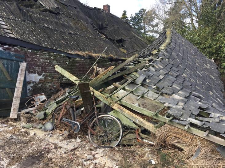 Een oud, vervallen krot in Sint Hubert