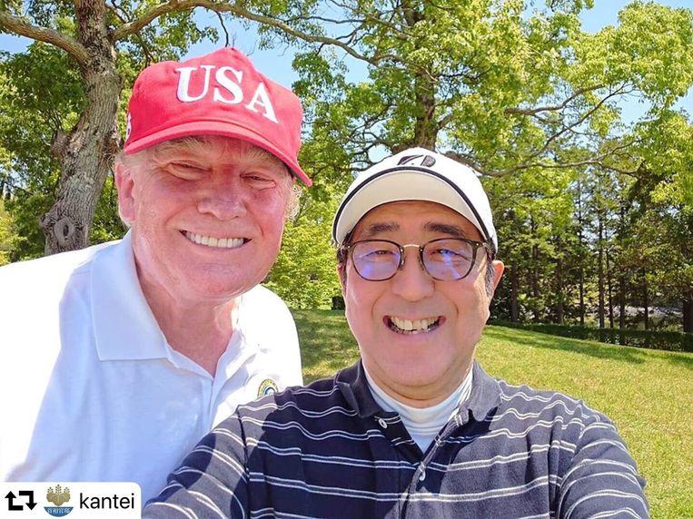 Donald Trump en Abe Shinzo