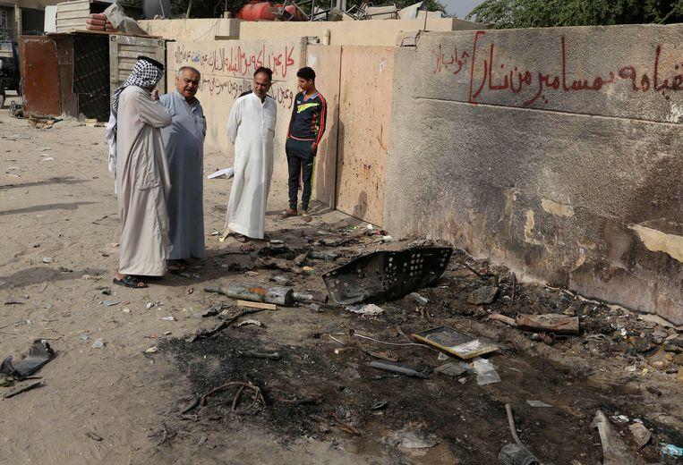 De wijk Hurriyah na de explosie