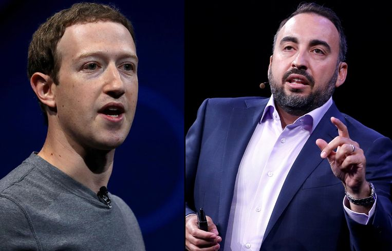 Facebookbaas Mark Zuckerberg en ex-beveiligingschef Alex Stamos.