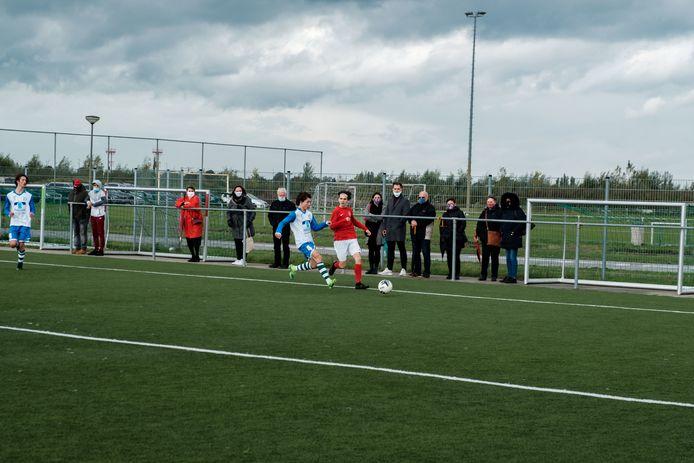 Nieuw kunstgrasveld aan het Sportlandschap in Mortsel.