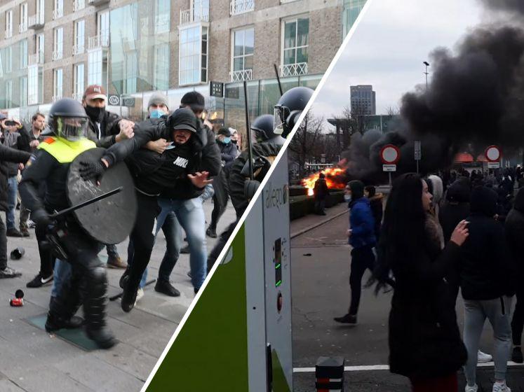 Dit zijn de heftigste beelden van de rellen in Eindhoven