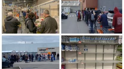 Ook vandaag hamsterwoede in de supermarkten, politie moet tussenbeide komen in verschillende filialen