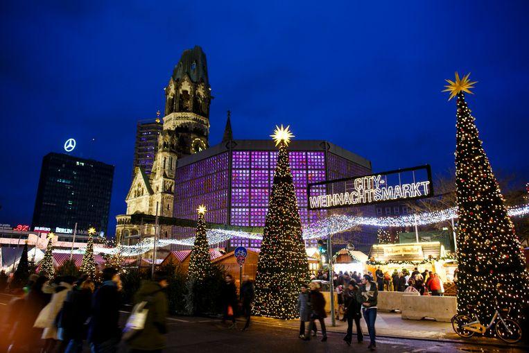 Kerstmarkt op de Breitscheidplatz Beeld Getty Images