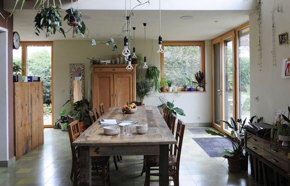 Planten fleuren het interieur op.
