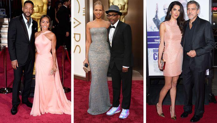 vlnr: Will en Jada Pinkett Smith, Spike en Tonya Lewis Lee en George en Amal Clooney.