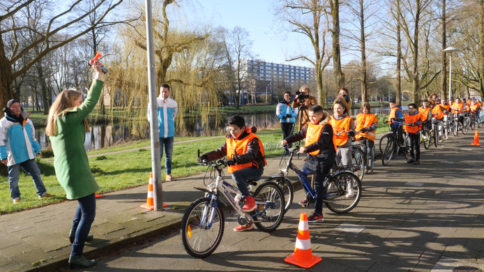 Lot van Hooijdonk bij een verkeersexamen in Utrecht afgelopen april.