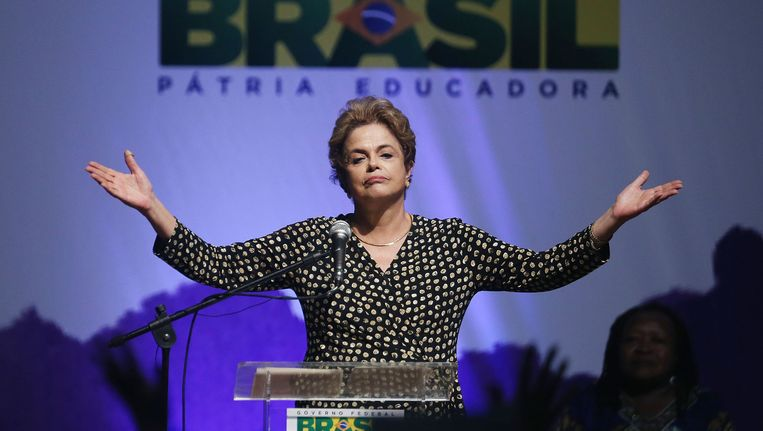 De Braziliaanse president Dilma Rousseff.