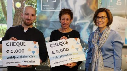 Aurubis schenkt 10.000 euro voor strijd tegen armoede in Olen