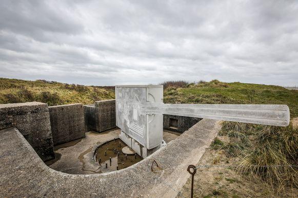 De blikvanger: een betonnen kanon.
