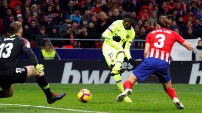Invaller Dembélé behoedt Barça in slotfase voor nederlaag, Sevilla kan zondag alleen leider worden