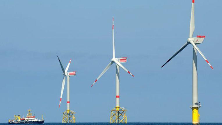 Windmolenpark van de EWE. Beeld AFP