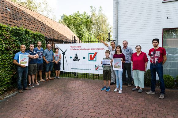 Desteldonk, België: Anti-windmolen comité Desteldonk.