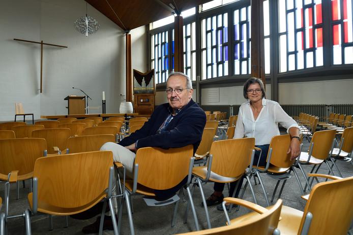 Theoloog Marcel Kemp en predikant Alke Liebich.  ,,Er is niet één waarheid.''