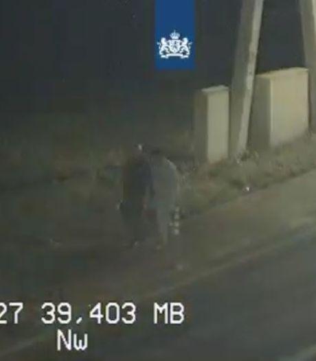 'Levensgevaarlijke' actie van voetgangers op de A27 loopt met een sisser af