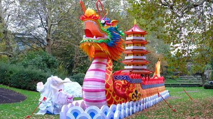 Lichtfeest China Light in volle opbouw