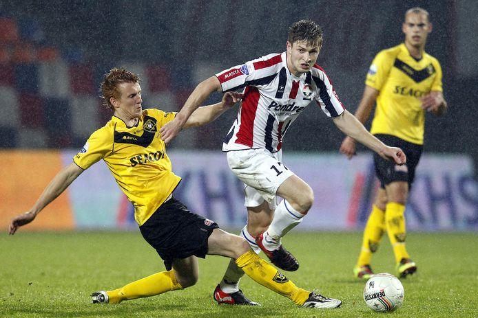 Jan Arie van der Heijden in zijn vorige periode bij Willem II.