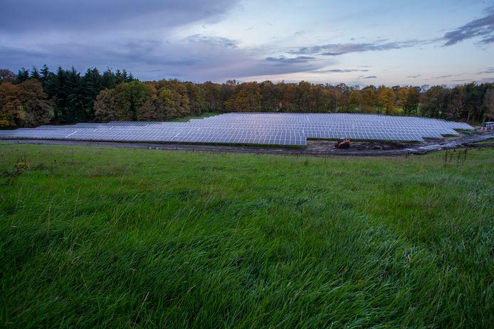 Het al operationele zonnepark in Lochem, eveneens van TPSolar, de Armhoede.