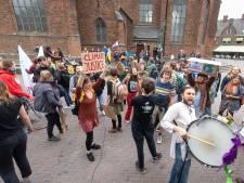 Vriendelijke klimaatmars: Wageningen warm bad voor klimaatactivisten