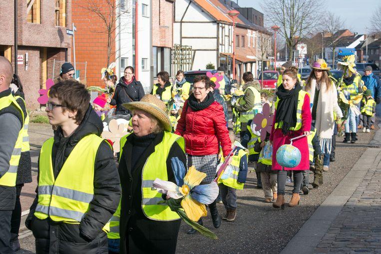 De kleuters van Klim-Op in actie.