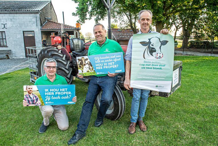 Geert Strobbe, Johan Gekiere en Chris Verhaeghe van het ABS van Staden