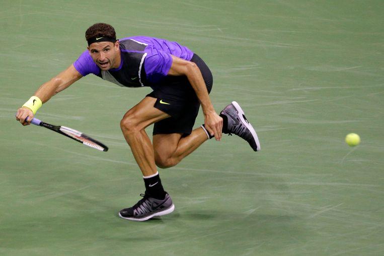 Grigor Dimitrov versloeg Federer: 'Ik wist dat ik hem uit balans kon brengen en dat heb ik gedaan. Ik ben er in blijven geloven.' Beeld AP