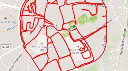 Loopduo passeert in één training door alle straten binnen Overpeltse ring