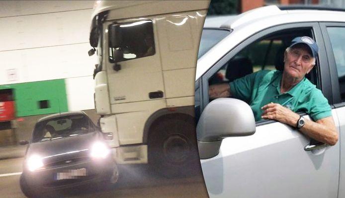 Rik Voorhelst kon de Slovaakse vrachtwagen stoppen toen die een kleine Ford Ka voortduwde in de Craeybeckxtunnel.