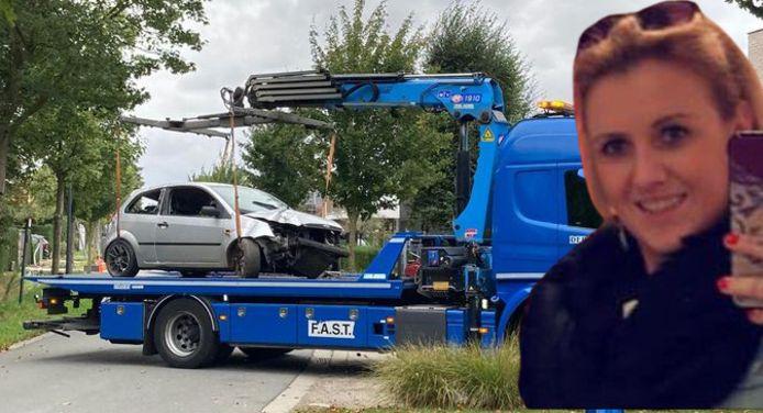 Stefanie Verstappen, 25-jarige bejaardenverzorgster uit Tielt, was samen met haar vriend op weg naar haar werk toen ze met hun wagen in de gracht belandden.