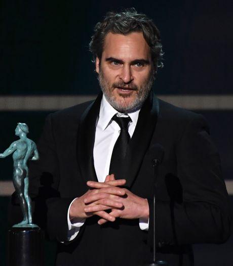 Joaquin Phoenix bij wake voor slachtvarkens na SAG-zege