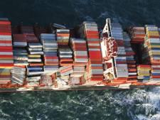 Gevaarlijk: ook container met batterijen overboord bij Wadden
