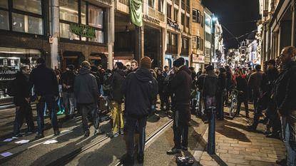 Onaangekondigde betoging verloopt rustig