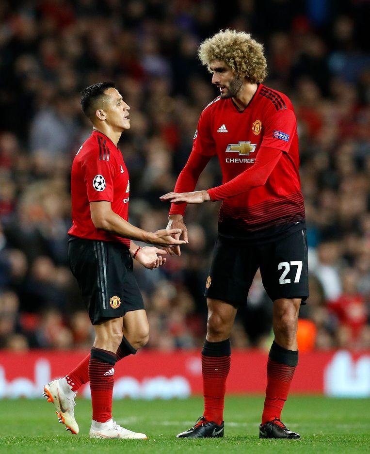 Sanchez en Fellaini.