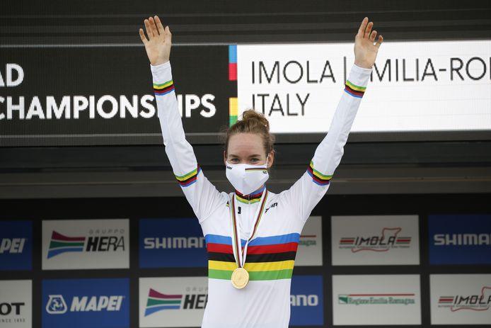 Wereldkampioen Anna van der Breggen.