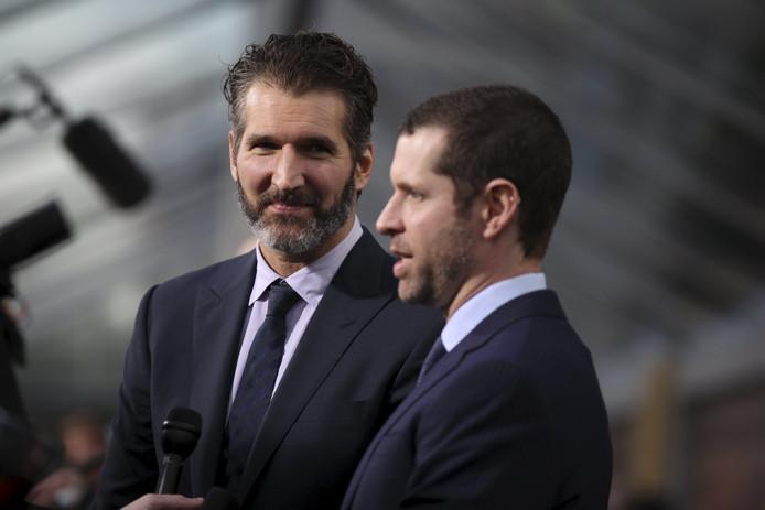 David Benioff (l) en Dan Weiss.