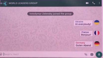 """Grap Oekraïense president gaat viraal: """"Als wereldleiders een whatsappgroep hadden"""""""